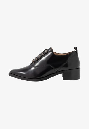 ELITE SQUARE OXFORD NO LACE SHOE - Scarpe senza lacci - black
