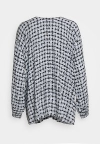 Proenza Schouler White Label - PRINTED GEORGETTE LONG SLEEVE BLOUSE - Blůza - light blue/black - 1