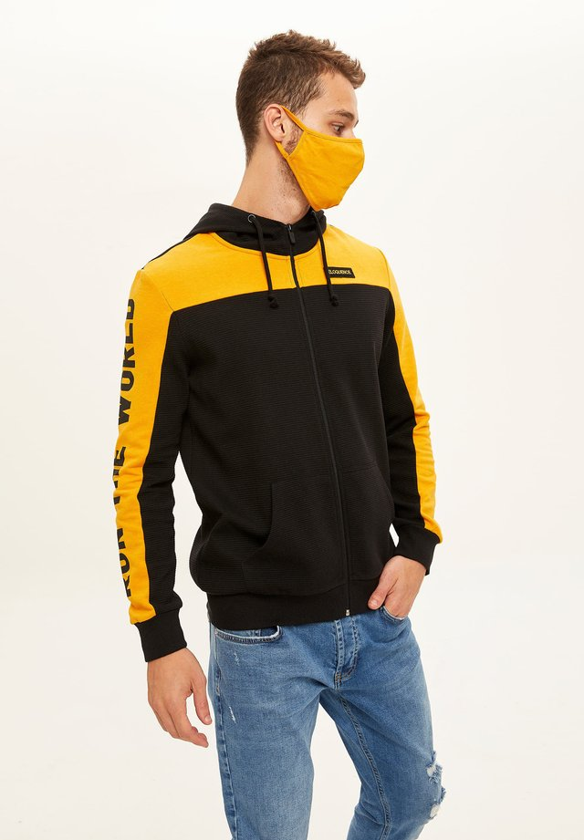 Zip-up hoodie - yellow