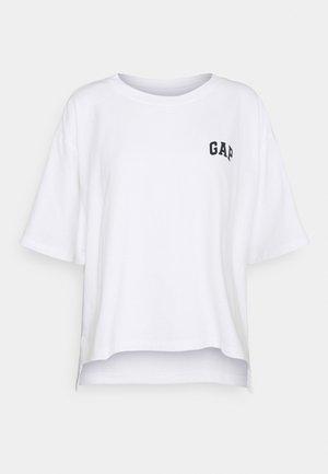 BOXY STEP HEM TEE - Basic T-shirt - optic white