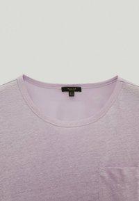 Massimo Dutti - T-shirt basique - dark purple - 1