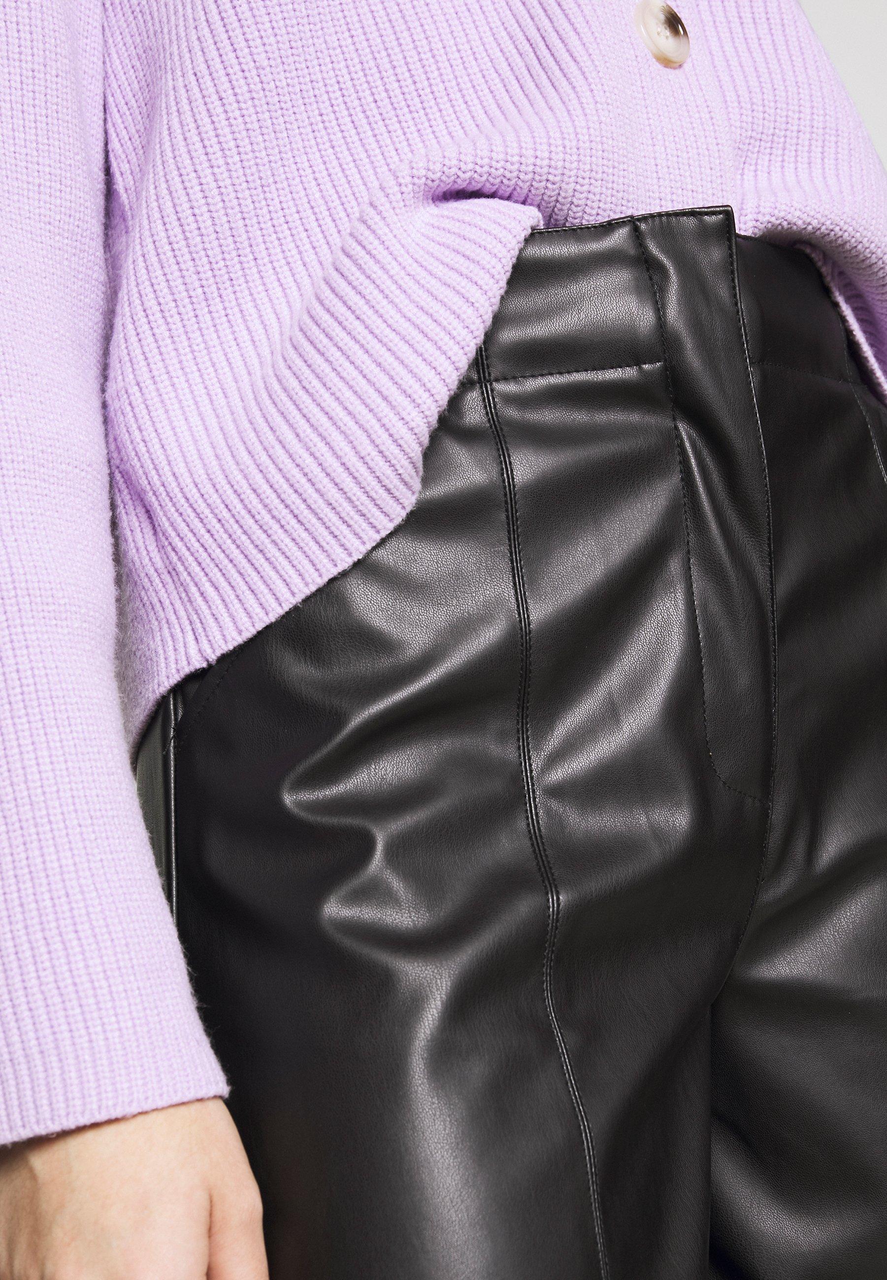 Who What Wear THE VEGAN CULOTTE - Bukse - black