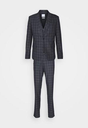 SHADOW CHECKED STRETCH SET - Suit - blue