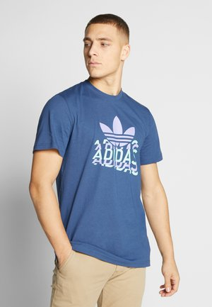 MULTI FADE TEE - T-shirts med print - blue
