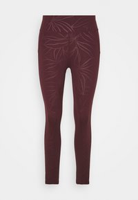 ALL DAY EMBOSSED 7/8 LEGGINGS - Collant - plum/red