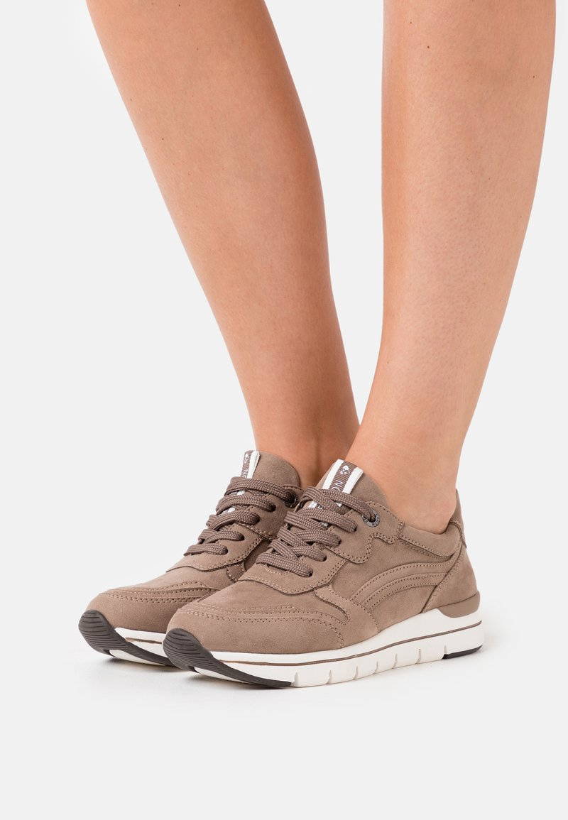 LOVE OUR PLANET by MARCO TOZZI - LACE UP - Zapatillas - taupe
