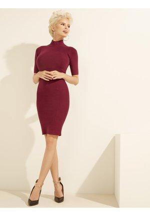 Gebreide jurk - bordeaux