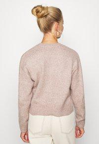 New Look - CROP - Sweter - mid pink - 2