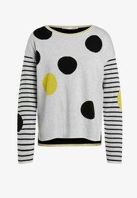 Oui - Jumper - grey yellow - 5