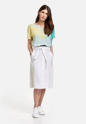 A-line skirt - weiß/weiß