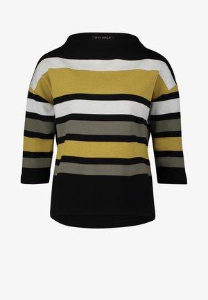 MET STREPEN - Sweatshirt - groene/zwart