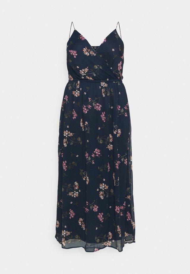 VMWONDA WRAP DRESS - Vapaa-ajan mekko - navy blazer/sallie