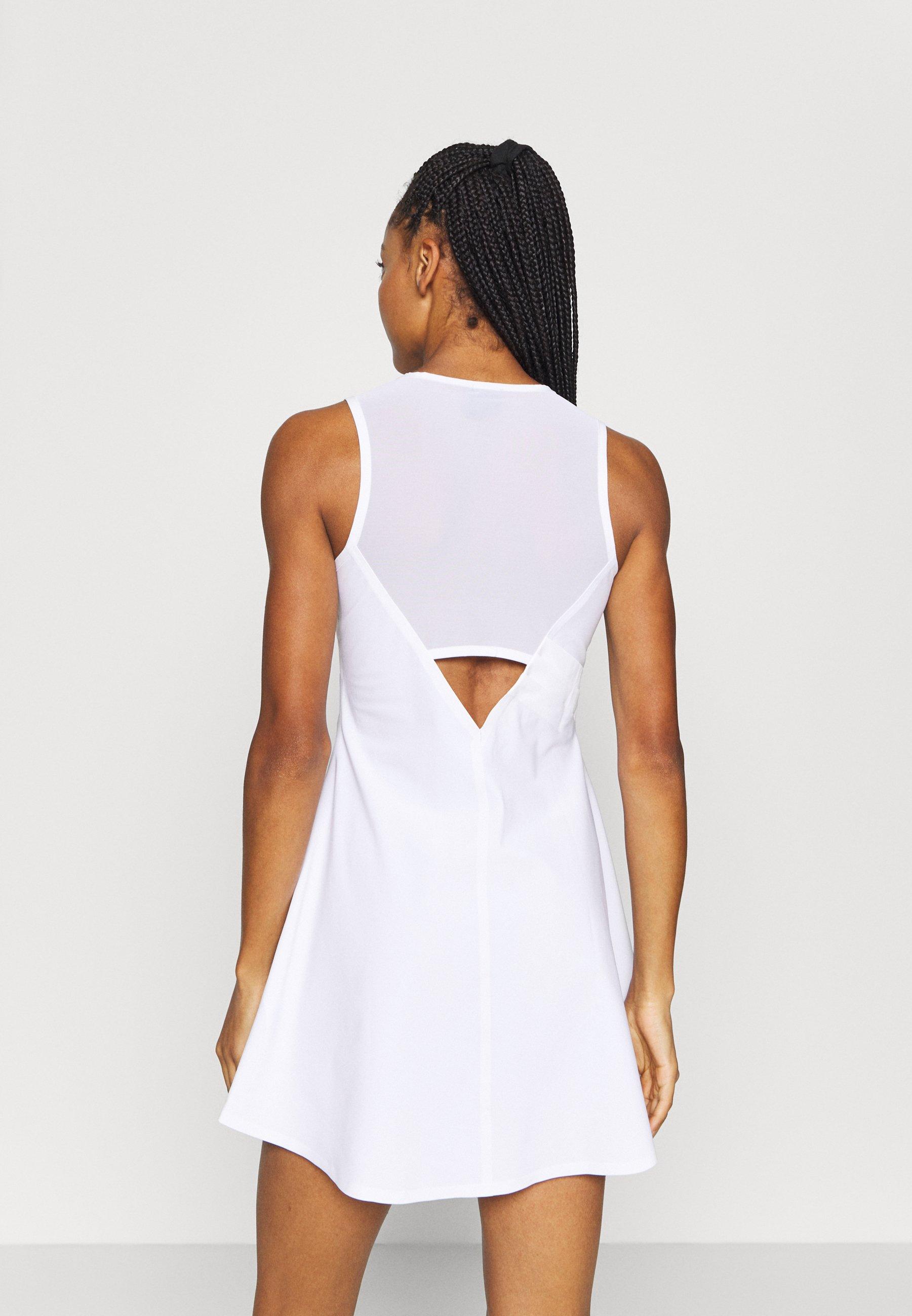 Compras Geniales Ropa de mujer Nike Performance MARIA DRESS Vestido de deporte white/black zb6zbS