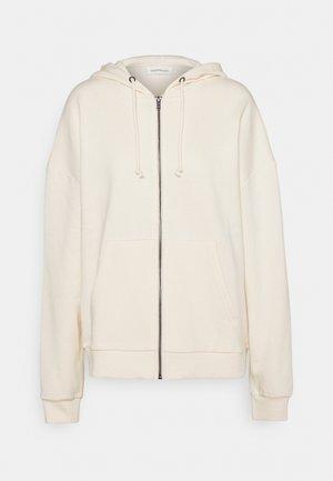 Oversized Hooded Sweat Jacket - Felpa aperta - off-white