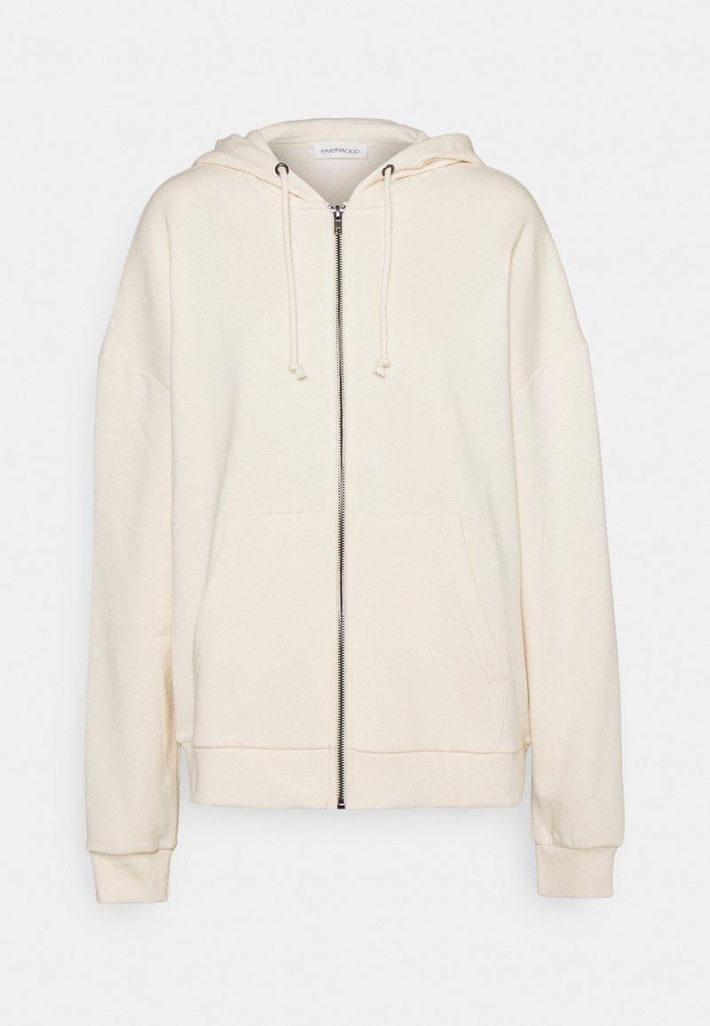 Even&Odd - Oversized Hooded Sweat Jacket - Zip-up sweatshirt - off-white