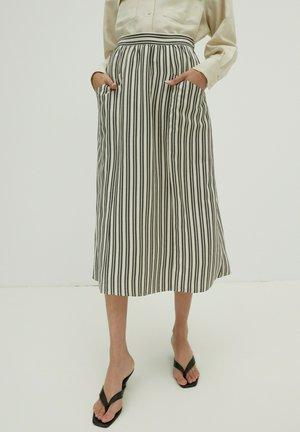 MORGAN - A-lijn rok - grey / white
