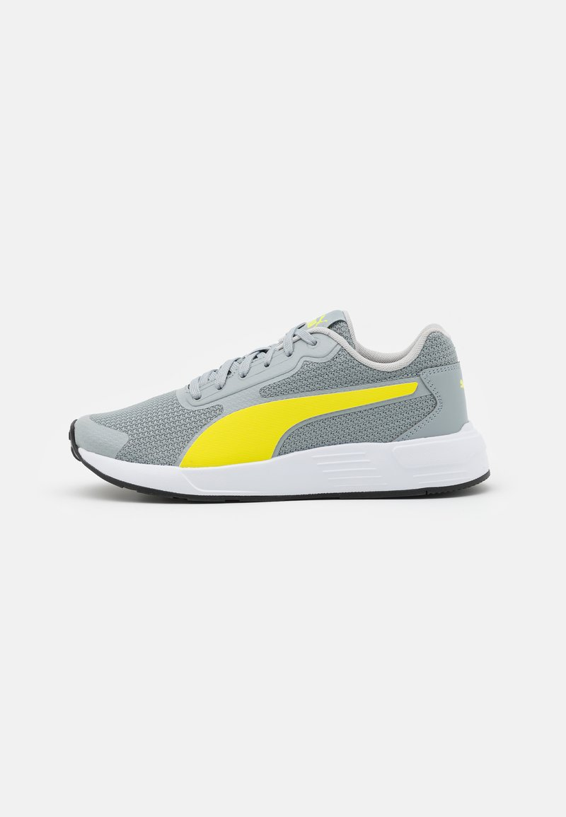 Puma - TAPER UNISEX - Neutral running shoes - quarry/energy yellow/gray violet