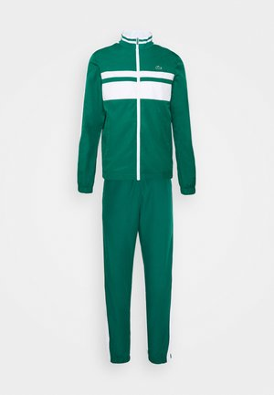 TRACK SUIT - Dres - bottle green/white