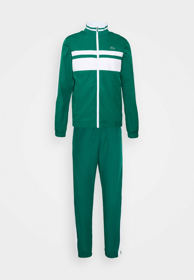 TRACK SUIT - Trainingspak - bottle green/white