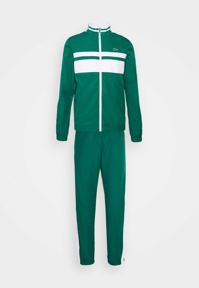 Lacoste Sport - TRACK SUIT - Tracksuit - bottle green/white