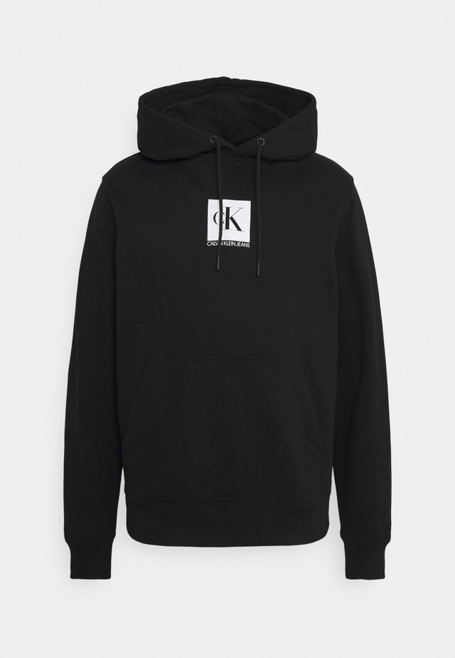 SMALL BOX LOGO HOODIE UNISEX - Sweatshirt - black