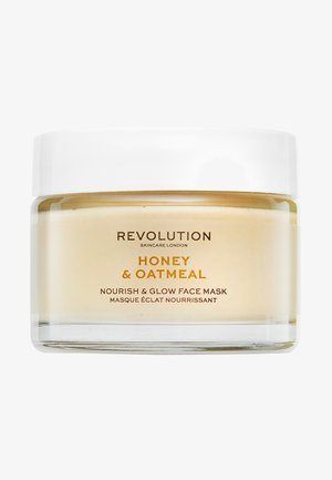 HONEY & OATMEAL NOURISH & GLOW FACE MASK - Masque visage - -