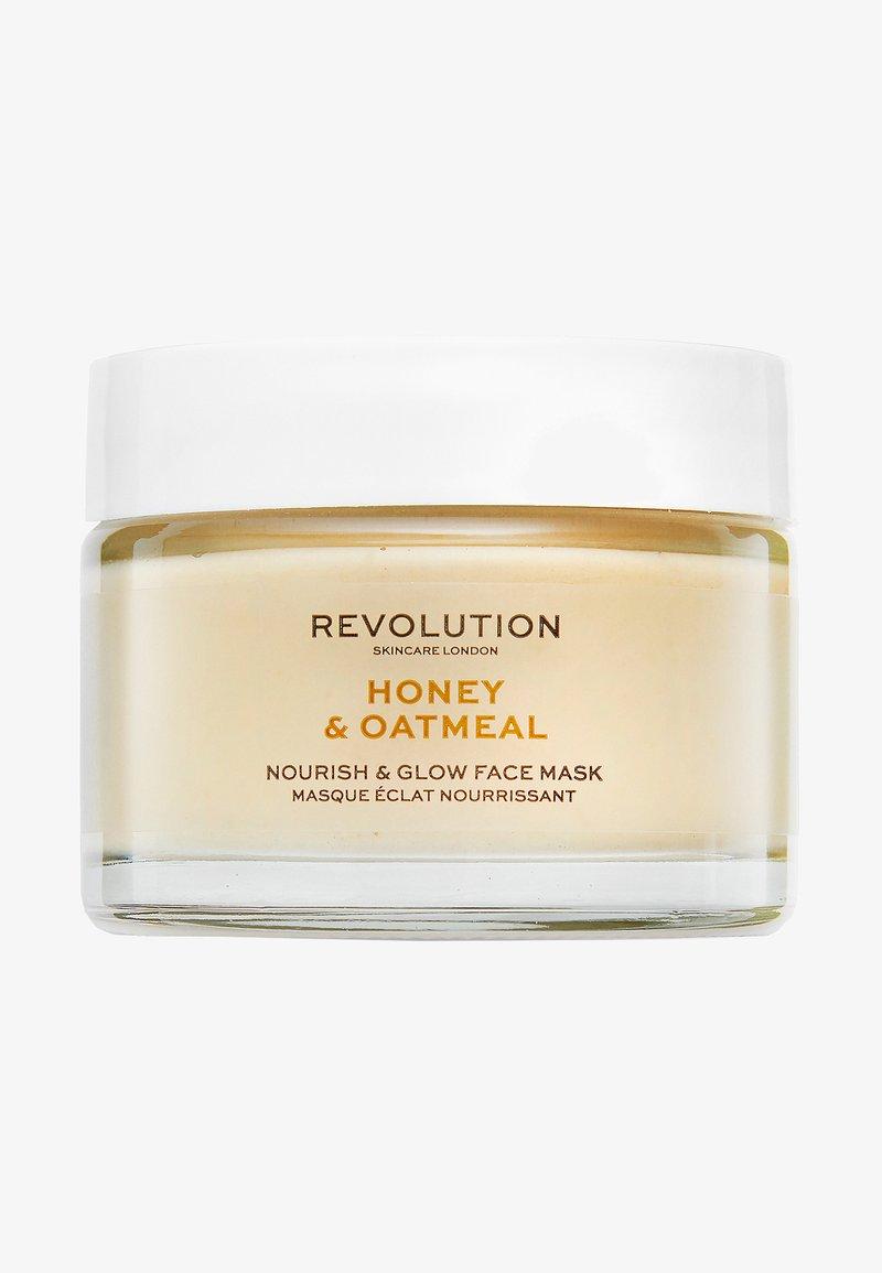 Revolution Skincare - HONEY & OATMEAL NOURISH & GLOW FACE MASK - Maseczka - -