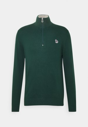 MENS ZIP NECK ZEBRA - Trui - green
