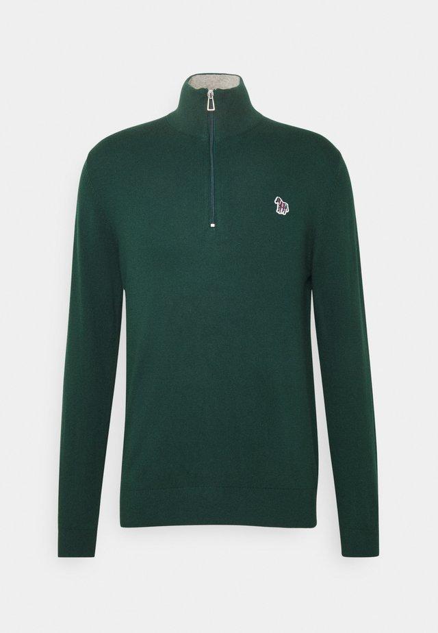 MENS ZIP NECK ZEBRA - Jumper - green
