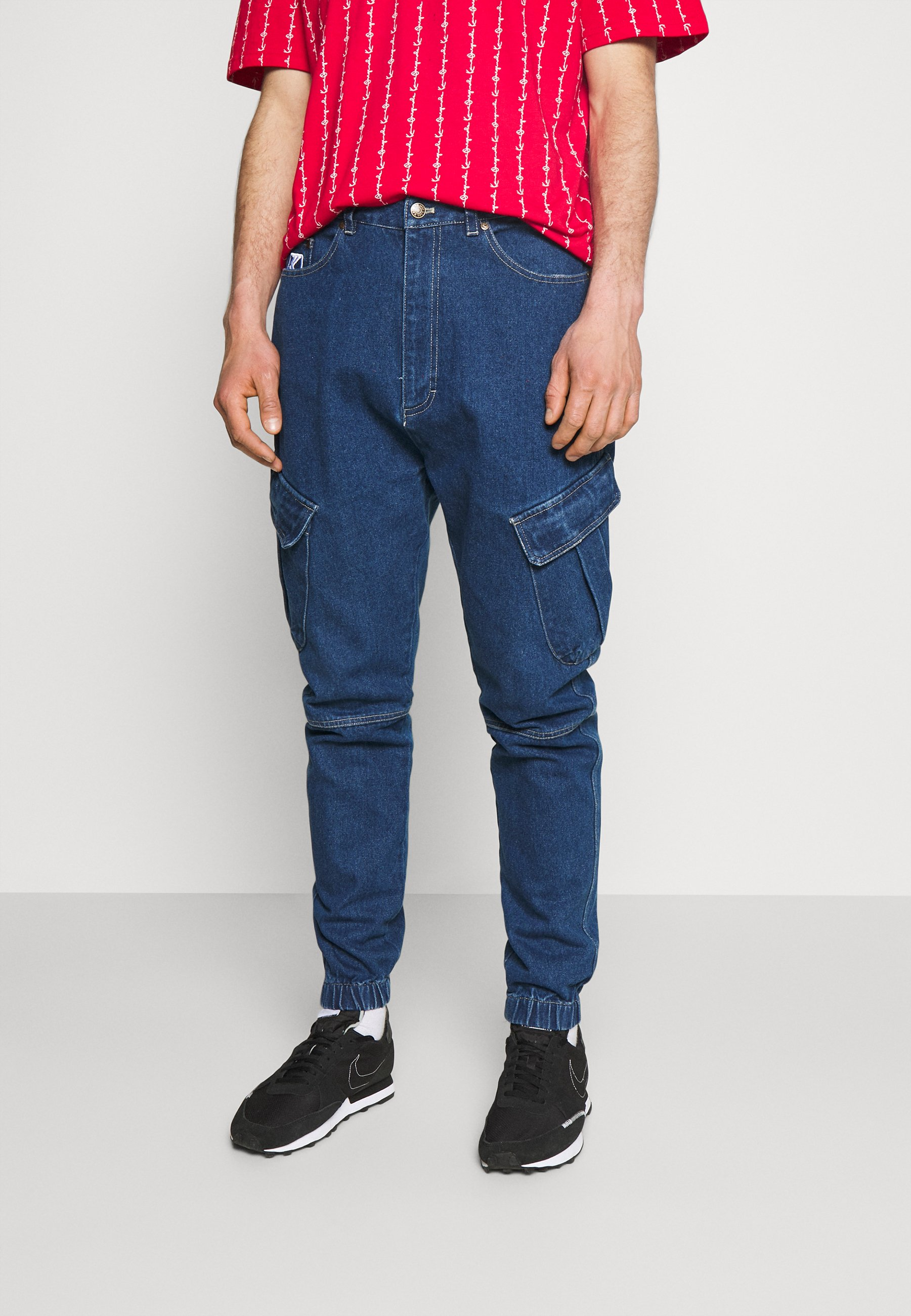 Men RINSE CARGO - Relaxed fit jeans