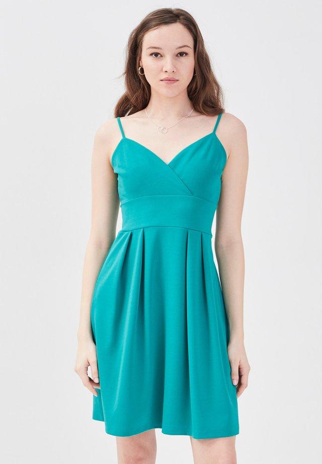 Korte jurk - vert émeraude