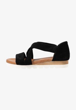 LEATHER  - Platform sandals - black