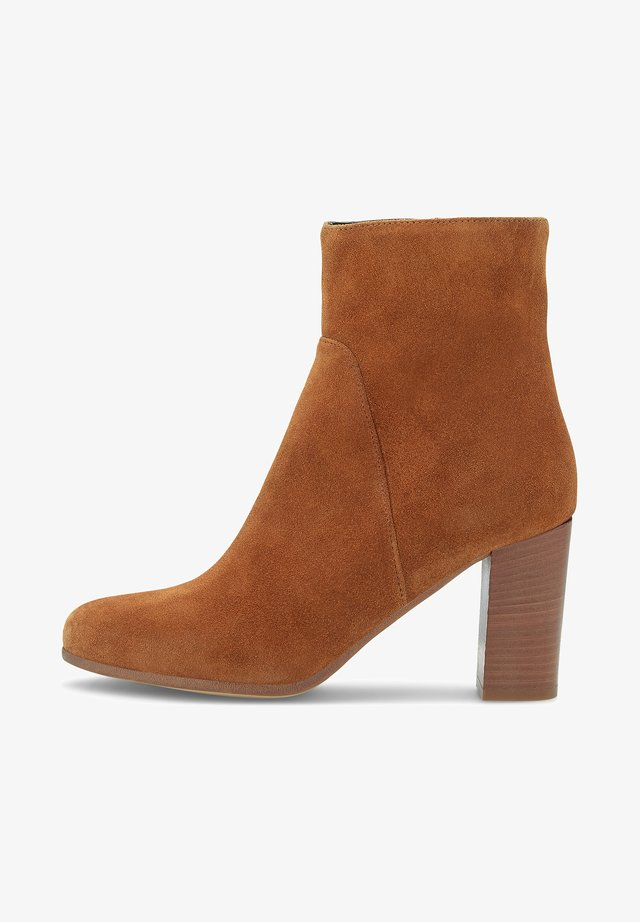 High heeled ankle boots - hellbraun