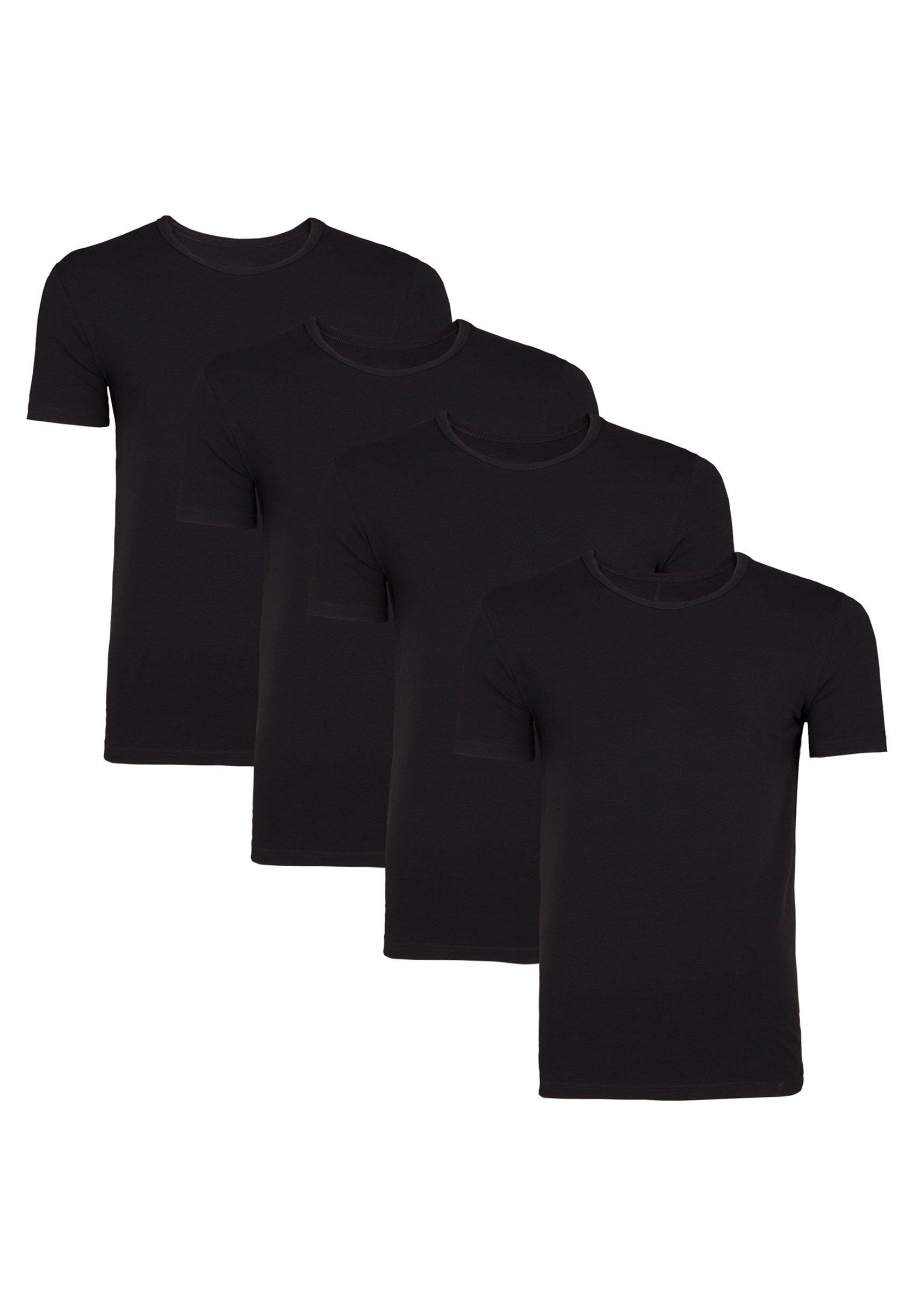 Uomo WE FASHION HERREN T-SHIRT, 4ER-PACK - T-shirt basic