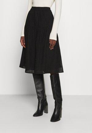 LYON SKIRT - Maxi skirt - black