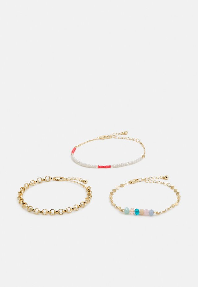 SARY BRACELETS 3 PACK - Armbånd - gold-coloured/multi