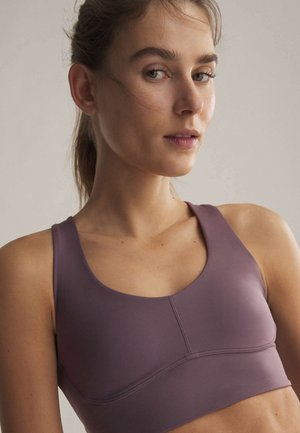 Medium support sports bra - dark purple