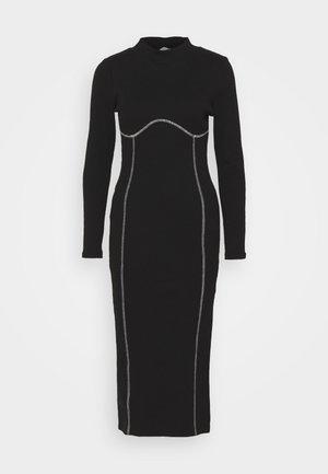 FLATLOCK MIDI - Day dress - black