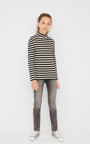 Long sleeved top - light yellow stripes