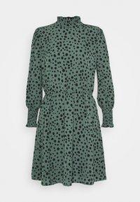 ONLY - ONLJENNA HIGHNECK SHORT DRESS - Kjole - chinois green/black - 0