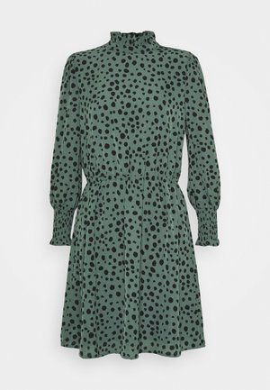 ONLJENNA HIGHNECK SHORT DRESS - Vardagsklänning - chinois green/black