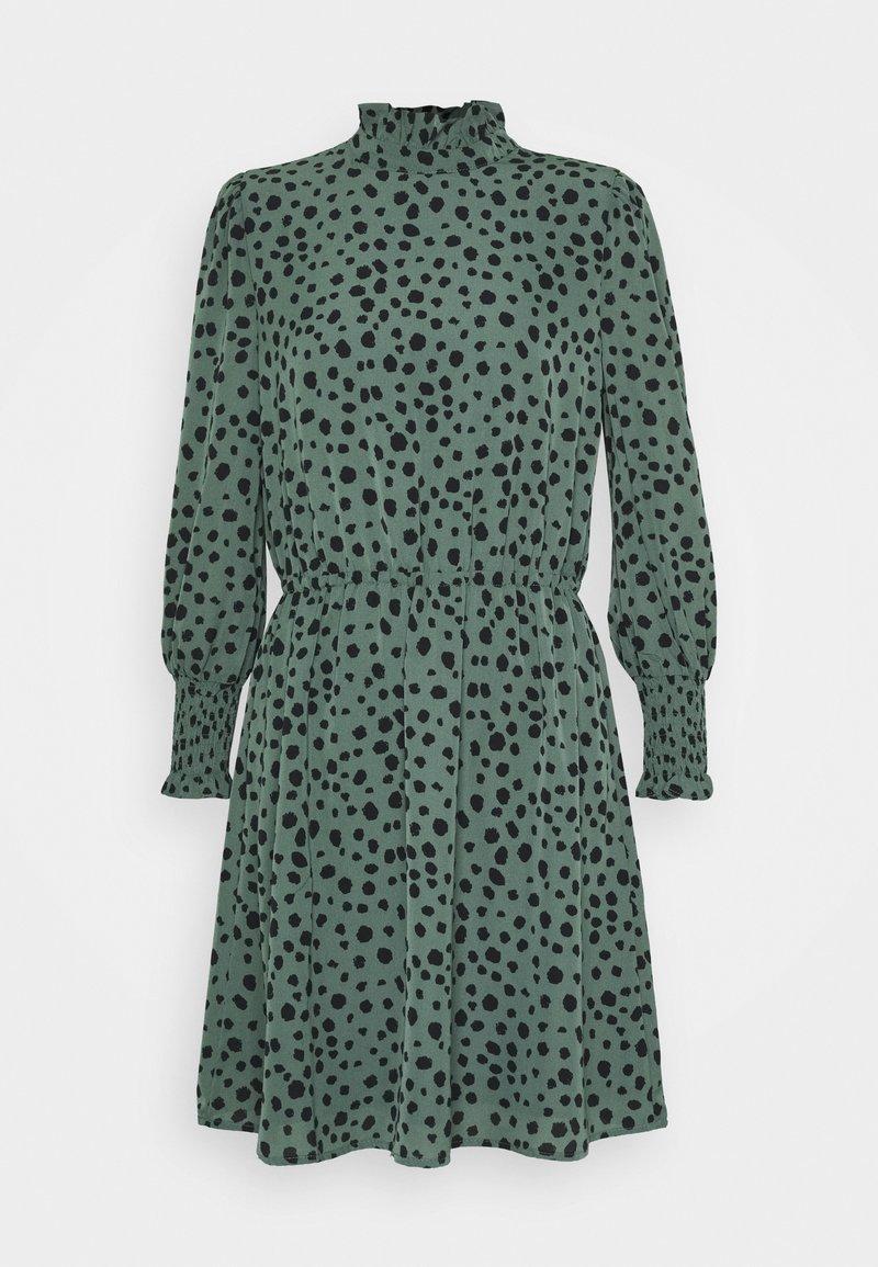 ONLY - ONLJENNA HIGHNECK SHORT DRESS - Kjole - chinois green/black