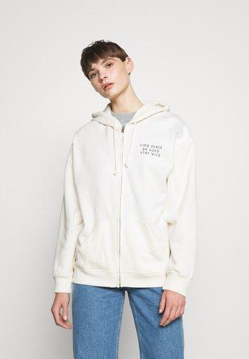 Zip-up hoodie - cream