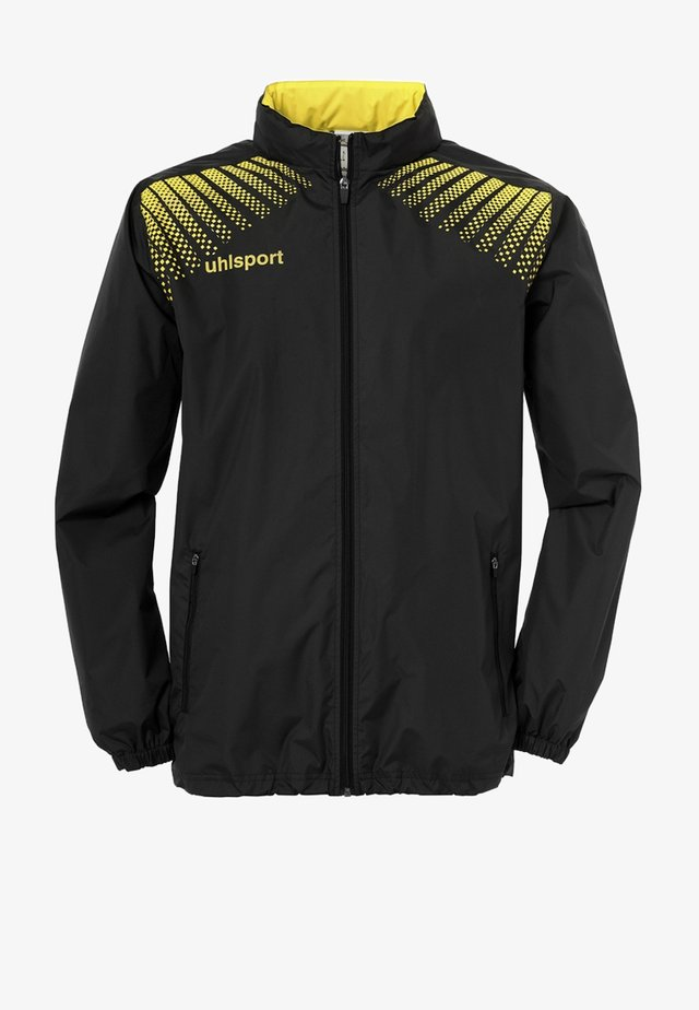 Regenjacke / wasserabweisende Jacke - schwarz / gelb