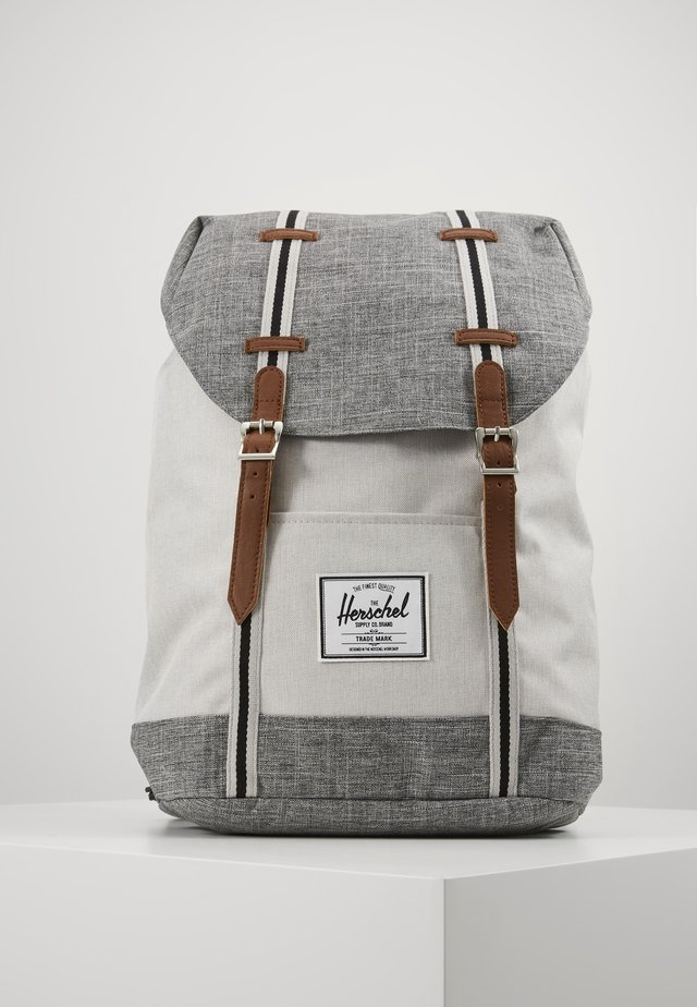RETREAT UNISEX - Tagesrucksack - raven crosshatch/vapor crosshatch/tan