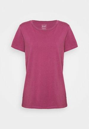 VINT CREW - Jednoduché triko - garnet