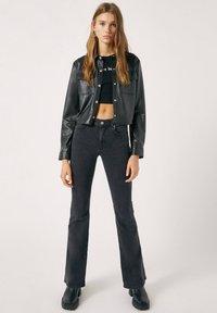 PULL&BEAR - Faux leather jacket - mottled black - 1