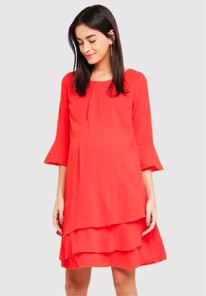Day dress - coral red