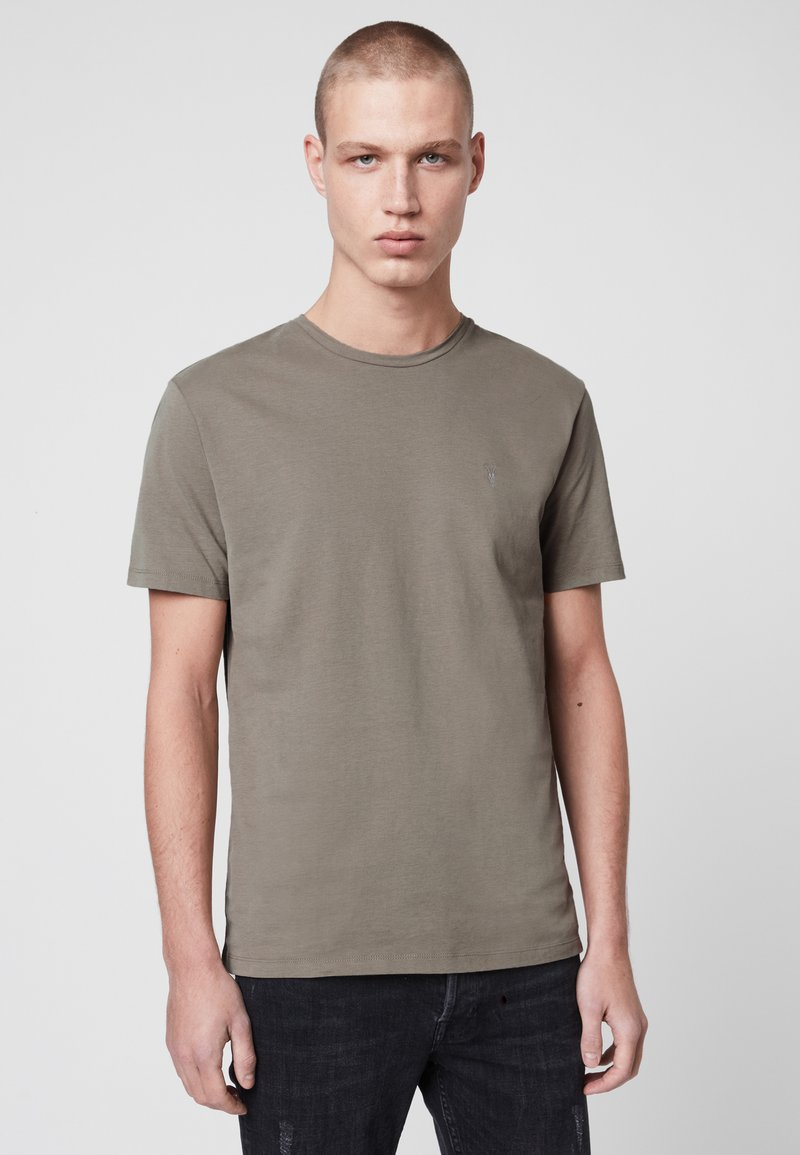AllSaints - BRACE - Basic T-shirt - mottled grey