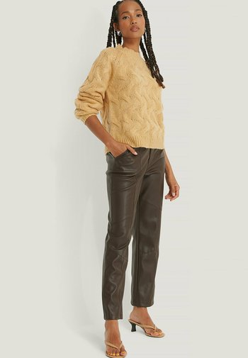Sweter - dusty yellow